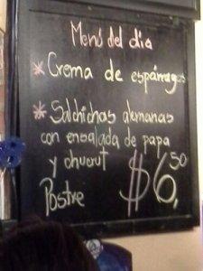 Der menu...