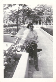 About 1971 - me and my Hog